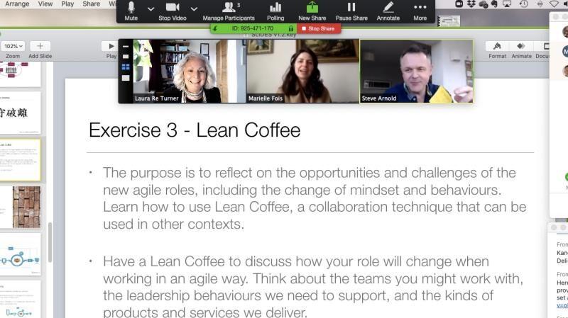 Agile Fundamentals virtual classroom in January 2020.